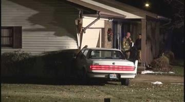 (KMOV.com) – A vehicle crashed into the side of a garage in St. Charles early Friday morning. By KMOV