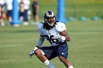 St. Louis Rams Robert Steeples runs a pass play practice during training camp at the team practice facility in Earth City , Missouri on August 1, 2013.   UPI/Bill Greenblatt By BILL GREENBLATT