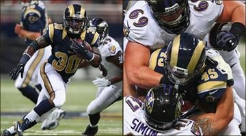 The Rams have yet to announce whether Zac Stacy (left) or Benny Cunningham will backup starter Daryl Richardson this weekend against the Arizona Cardinals. By Belo Content KMOV