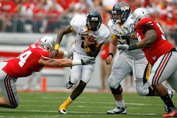 Toledo quarterback Terrance Owens threw three costly interceptions. (Photo by Kirk Irwin/Getty Images) By Kirk Irwin