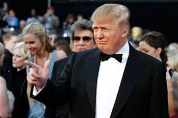 Donald Trump arrives before the 83rd Academy Awards on Sunday, Feb. 27, 2011, in the Hollywood section of Los Angeles. (AP Photo/Matt Sayles) By Matt Sayles