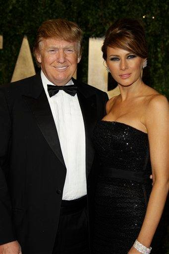 Donald Trump and Melania Trump arrive at the Vanity Fair Oscar Party at the Sunset Tower in Los Angeles, Calif., Sunday, Feb. 27, 2011. (AP Photo/Carlo Allegri) By Carlo Allegri