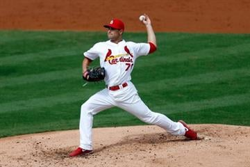 JUPITER, FL - FEBRUARY 28: Tyler Lyons #70 of the St. Louis Cardinals pitches against the Miami Marlins at Roger Dean Stadium on February 28, 2013 in Jupiter, Florida.  (Photo by Chris Trotman/Getty Images) By Chris Trotman