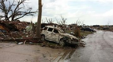 May 20, 2013 tornado damage in Moore, Oklahoma, not far from Oklahoma City By KMOV Web Producer