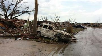 May 20, 2013 tornado damage in Moore, Oklahoma, not far from Oklahoma City By KMOV Web Producer