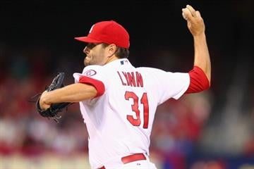 ST. LOUIS, MO - APRIL 26: Starter Lance Lynn #31 of the St. Louis Cardinals pitches against the Pittsburgh Pirates at Busch Stadium on April 26, 2013 in St. Louis, Missouri.  (Photo by Dilip Vishwanat/Getty Images) By Dilip Vishwanat