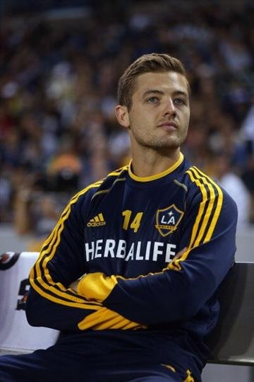 CARSON, CA - MAY 26:  Robbie Rogers #14 of Los Angeles Galaxy looks on prior to the start of the game against the Seattle Sounders FC at The Home Depot Center on May 26, 2013 in Carson, California.  (Photo by Jeff Gross/Getty Images) By Jeff Gross
