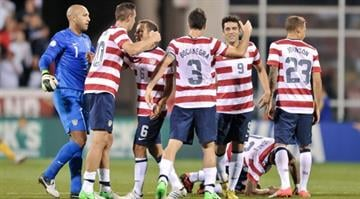COLUMBUS, OH - SEPTEMBER 11: The U.S. Men's National Team celebrates their 1-0 win over Jamaica on September 11, 2012 at Crew Stadium in Columbus, Ohio. (Photo by Jamie Sabau/Getty Images) By Dan Mueller