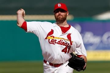 JUPITER, FL - FEBRUARY 28:  Mitchell Boggs #41 of the St. Louis Cardinals throws a pitch during a game against the Miami Marlins at the Roger Dean Stadium on February 28, 2013 in Jupiter, Florida.  (Photo by Chris Trotman/Getty Images) By Chris Trotman