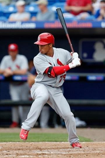 PORT ST. LUCIE, FL - FEBRUARY 27: Kolten Wong #79 of the St. Louis Cardinals bats against the New York Mets at Tradition Field on February 27, 2013 in Port St. Lucie, Florida.  (Photo by Chris Trotman/Getty Images) By Chris Trotman