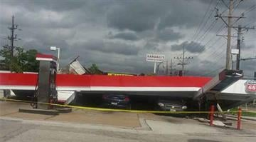 The National Weather Service confirms three tornadoes were part of the Friday night storm that raked portions of the St. Louis area, damaging hundreds of homes but causing no serious injuries. By Dan Mueller