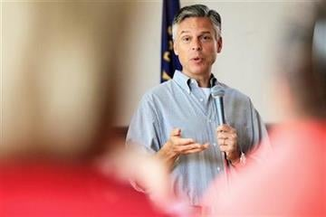 Republican 2012 presidential hopeful and former Utah Gov. Jon Huntsman speaks at a breakfast at American Legion Post 3 in Nashua, N.H., Saturday, August 13, 2011.  (AP Photo/Cheryl Senter) By Cheryl Senter