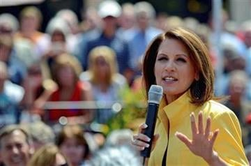 Republican presidential candidate, Rep. Michele Bachmann, R-Minn., speaks to supporters at the Beacon Drive-in, Tuesday, Aug. 16, 2011, in Spartanburg, S.C. (AP Photo/ Richard Shiro) By Richard Shiro
