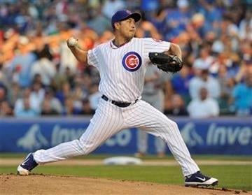Chicago Cubs' pitcher Rodrigo Lopez pitches against the St. Louis Cardinals during the first inning of a baseball game Sunday, Aug. 21, 2011, in Chicago. (AP Photo/Jim Prisching) By Jim Prisching