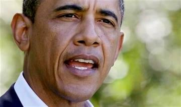 President Barack Obama speaks about Libya, Monday, Aug. 22, 2011, in Chilmark, Mass., on Martha's Vineyard, Mass.  (AP Photo/Carolyn Kaster) By Carolyn Kaster