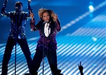 Beyonce performs at the MTV Video Music Awards on Sunday Aug. 28, 2011, in Los Angeles. (AP Photo/Matt Sayles) By Matt Sayles