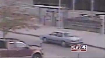 This photo shows a blue older model car believed to be the suspect vehicle in a Swansea, Illinois kidnapping that happened Tuesday, August 30, 2011. By KMOV Web Producer