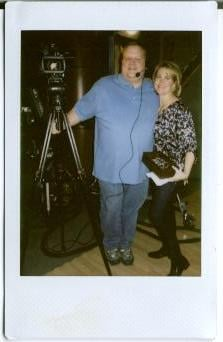 Organization expert Claire Keeling with Great Day photographer Junior Long By KMOV Web Producer