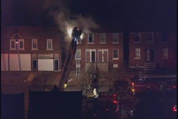 Fire consumed a north St. Louis multi-family residence early Wednesday morning.  It appeared the unit where the fire started is vacant.