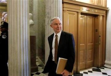Sen. Jeff Sessions, R-Ala., walks to the Senate floor as they consider the New START Treaty, on Capitol Hill in Washington, Wednesday, Dec. 22, 2010. (AP Photo/Alex Brandon) By Alex Brandon