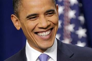 President Barack Obama laughs during a news conference on the White House complex in Washington, Wednesday, Dec. 22, 2010. (AP Photo/Pablo Martinez Monsivais) By Pablo Martinez Monsivais