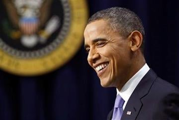 President Barack Obama smiles during a news conference on the White House complex in Washington, Wednesday, Dec. 22, 2010.  (AP Photo/Evan Vucci) By Evan Vucci