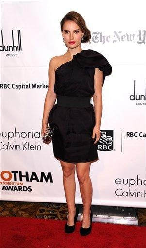 Actress Natalie Portman attends the 20th anniversary of The Gotham Independent Film awards in New York, on Monday, Nov. 29, 2010. (AP Photo/Peter Kramer) By Peter Kramer