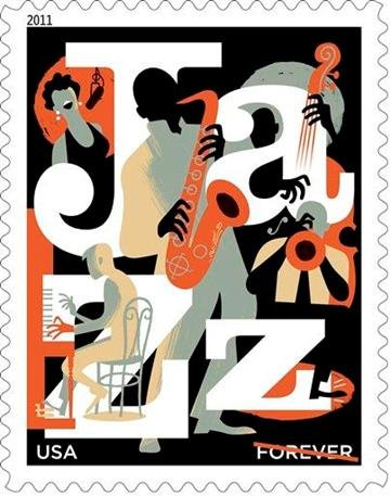 This handout image provided by the US Postal Service shows a postage stamp honoring jazz appreciation forever, a design which is included in the 2011 US postage stamps collection. (AP Photo/USPS) By KMOV Web Producer