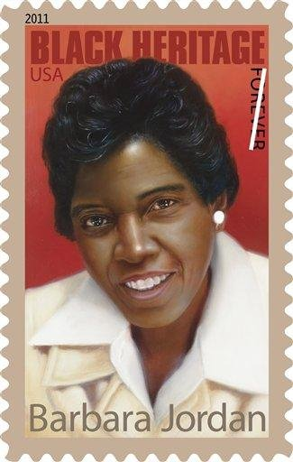 This handout image provided by the US Postal Service shows a postage stamp honoring former Texas Congresswoman Barbara Jordan, a design which is included in the 2011 US postage stamps collection. (AP Photo/USPS) By KMOV Web Producer
