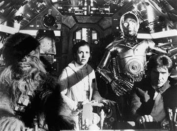 """This undated black-and-white handout photo provided by the Library of Congress shows a scene from the movie """"The Empire Strikes Back."""" The film is one 25 selections to the 2010 National Film Registry. (AP Photo/Library of Congress) By KMOV Web Producer"""