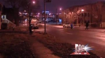 This image shows the scene of a hit-and-run accident that happened on Jefferson Ave near Hickory in south St. Louis Thursday, December 30, 2010. By KMOV Web Producer