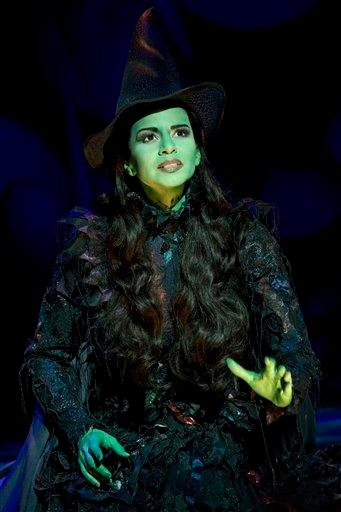 "In this theater publicity image released by The Hartman Group, Mandy Gonzalez portrays Elphaba in a scene from the Broadway musical ""Wicked."" (AP Photo/The Hartman Group, Joan Marcus) By Joan Marcus"