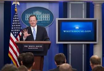 White House press secretary Robert Gibbs gestures during the daily briefing at the White House on Monday, Dec. 20, 2010 in Washington.  (AP Photo/Evan Vucci) By Evan Vucci