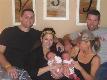 News 4's Virginia Kerr's husband and his brother's family. They both became fathers in mid October. By KMOV Web Producer