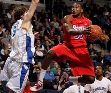 Dayton's Chris Wright, right, heads to the basket past Saint Louis' Rob Loe, left, during the first half of an NCAA college basketball game Wednesday, Jan. 5, 2011, in St. Louis. (AP Photo/Jeff Roberson) By Jeff Roberson