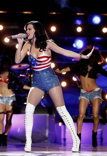 "Katy Perry performs onstage at the ""Vh1 Divas Salute the Troops"" on Friday, Dec. 3, 2010 in San Diego, Calif. (AP Photo/Matt Sayles) By Matt Sayles"