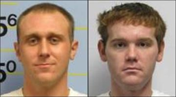 Brian Wallace and Joshua Mead face charges after police say they stole dozens of 12-packs of Red Bull from multiple St. Louis County Schnucks stores last year. By Brendan Marks