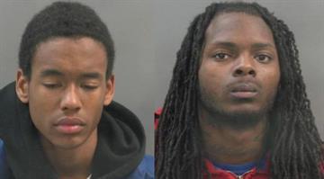 Alando Jones (left) and Joseph Robinson are charged with burglary. By Elizabeth Eisele