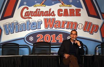 St. Louis Cardinals General Manager John Mozeliak talks about the status of the team signs during the St. Louis Cardinals Winter Warm-up in St. Louis on January 18, 2014.  UPI/Bill Greenblatt By BILL GREENBLATT
