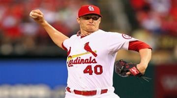 ST. LOUIS, MO - JUNE 17:  Starter Shelby Miller #40 of the St. Louis Cardinals pitches against the Chicago Cubs at Busch Stadium on June 17, 2013 in St. Louis, Missouri.  (Photo by Dilip Vishwanat/Getty Images) By Dilip Vishwanat