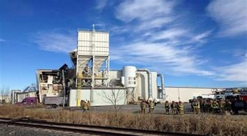 Feed plant explodes in Omaha.  No cause is immediately known for the blast, which kills two workers and badly injures several others. By Sarah Heath