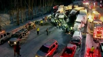 About 30 vehicles, half of them semitrailers, collided amid whiteout conditions in a massive highway pileup that left three people dead and more than 20 others injured in northwestern Indiana, police said. By Brendan Marks