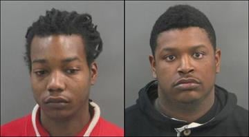 Daveis Sands (left) and Ryan Handson (right) are accused of killing Justin Gordon and Devin Gordon at a north St. Louis home on Dec. 5. By Brendan Marks