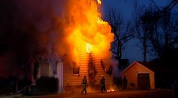 Firefighters responded to 203 Judith Ln. in Cahokia around 6:30 a.m. and found a home engulfed in flames. By Brendan Marks