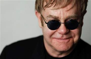 """In this Jan. 20, 2011 photo, Elton John poses for a portrait while promoting the new film, """"Gnomeo and Juliet"""", in Beverly Hills, Calif. (AP Photo/Matt Sayles) By Matt Sayles"""