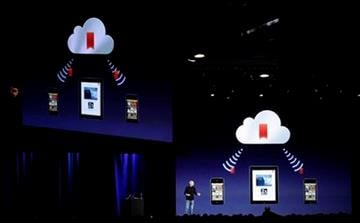 Apple CEO Steve Jobs talks about iCloud at the Worldwide Developers Conference in San Francisco, Monday, June 6, 2011. (AP Photo/Marcio Jose Sanchez) By Marcio Jose Sanchez
