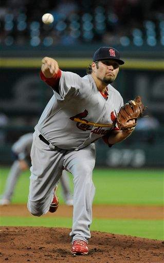 St. Louis Cardinals' Lance Lynn delivers a pitch in the second inning of a baseball game against the Houston Astros, Thursday, June 9, 2011, in Houston. (AP Photo/Pat Sullivan) By Pat Sullivan