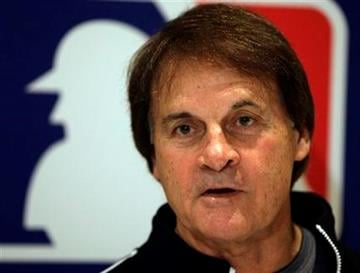 St. Louis Cardinals manager Tony La Russa responds to a question during a news conference at the baseball winter meetings in Indianapolis, Tuesday, Dec. 8, 2009.  (AP Photo/Michael Conroy) By Michael Conroy