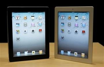 The iPad 2 is shown at an Apple event after the Yerba Buena Center for the Arts Theater in San Francisco, Wednesday, March 2, 2011. (AP Photo/Jeff Chiu) By Jeff Chiu