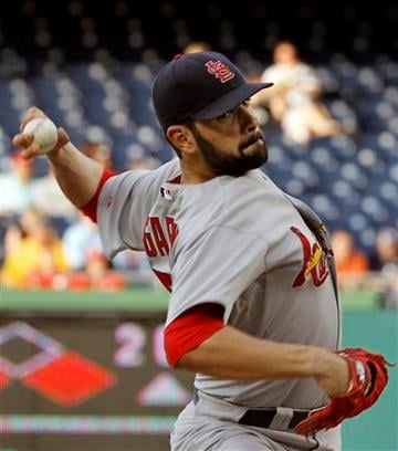 St. Louis Cardinals pitcher Jaime Garcia delivers during the first inning of a baseball game against the Washington Nationals in Washington, Tuesday, June 14, 2011. (AP Photo/Ann Heisenfelt) By Ann Heisenfelt